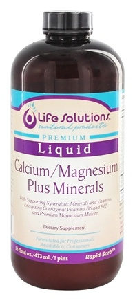 DROPPED: Life Solutions - Liquid Calcium Magnesium Plus Minerals - 16 oz.