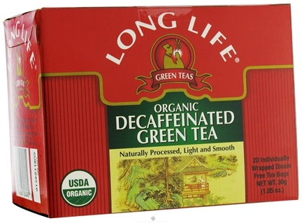 DROPPED: Long Life Teas - Organic Decaffeinated Green Tea - 20 Tea Bags