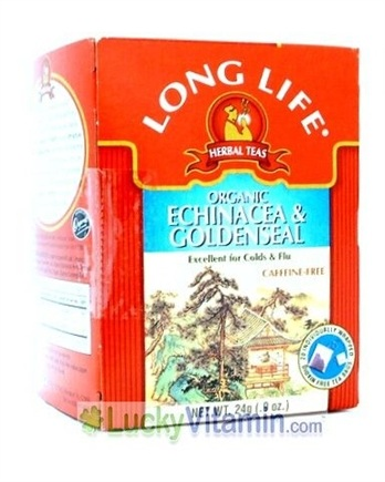 DROPPED: Long Life Teas - Organic Echinacea & Goldenseal Herbal Tea - 20 Tea Bags