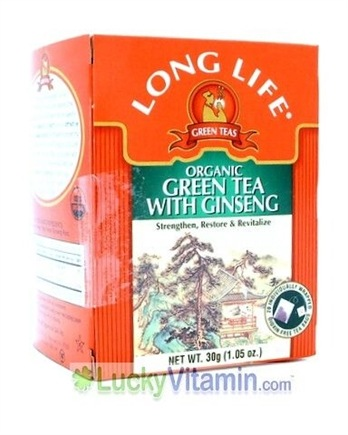 DROPPED: Long Life Teas - Organic Green Tea With Ginseng - 20 Tea Bags