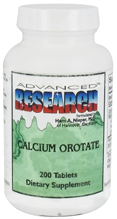 DROPPED: Advanced Research - Calcium Orotate - 200 Tablets