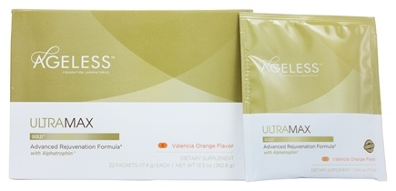 Ageless Foundation - UltraMax Gold Advanced Rejuvenation Formula with Alphatrophin Valencia Orange - 22 Packet(s)