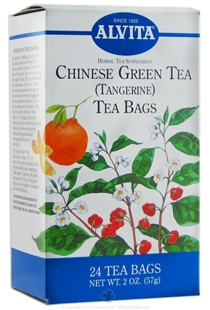 DROPPED: Alvita - Chinese Green Tea (Tangerine) - 24 Tea Bags