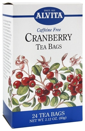 DROPPED: Alvita - Cranberry Caffeine Free - 24 Tea Bags