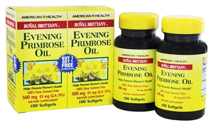 American Health - Royal Brittany Evening Primrose Oil (100+100) Twin Pack Special 500 mg. - 200 Softgels