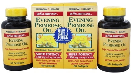 American Health - Royal Brittany Evening Primrose Oil Super Potency (60+60) Twin Pack Special 1300 mg. - 120 Softgels