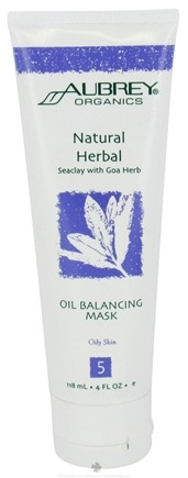 DROPPED: Aubrey Organics - Natural Herbal Seaclay with Goa Herb Oil Balancing Mask - 4 oz.