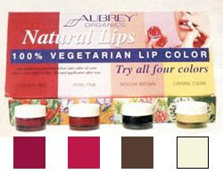 DROPPED: Aubrey Organics - Natural Vegetarian Lip Color Kit Try Four Colors