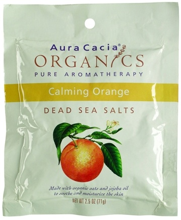 DROPPED: Aura Cacia - Dead Sea Bath Salts Calming Orange - 2.5 oz.