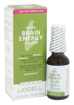 Liddell Laboratories - Vital Brain Energy with Ginkgo Homeopathic Oral Spray - 1 oz.