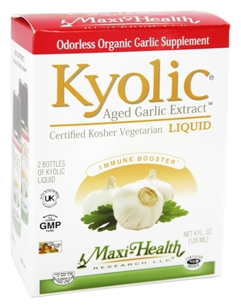 Maxi-Health Research Kosher Vitamins - Kyolic Aged Garlic Liquid Extract 300 mg. - 4 oz.