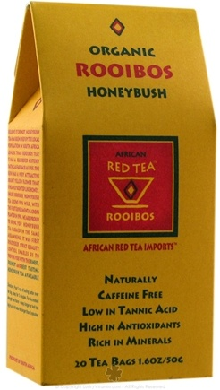 DROPPED: African Red Tea Imports - Red Tea With Honeybush - Organic - 20 Tea Bags