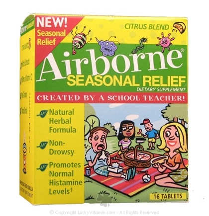 DROPPED: Airborne - Seasonal Relief Citrus Blend - 16 Tablets