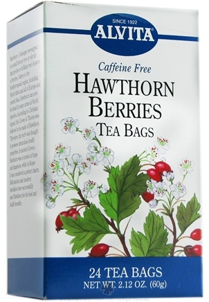 DROPPED: Alvita - Hawthorn Berries Caffeine Free - 24 Tea Bags