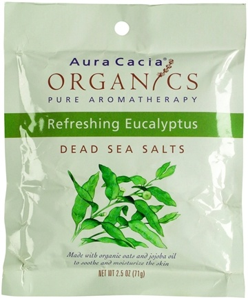 DROPPED: Aura Cacia - Dead Sea Salts Organic Refreshing Eucalyptus - 2.5 oz.