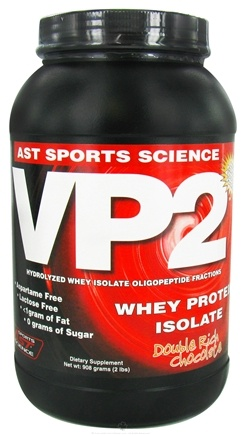 DROPPED: AST Sports Science - VP2 Whey Protein Isolate Double Rich Chocolate - 2 lbs. CLEARANCE PRICED
