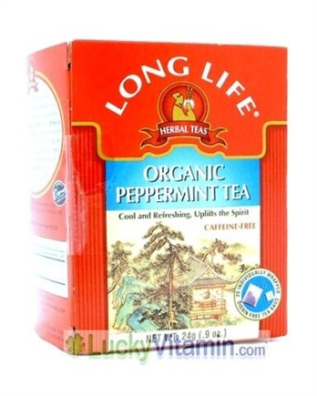 DROPPED: Long Life Teas - Organic Peppermint Herbal Tea - 20 Tea Bags
