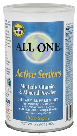 DROPPED: All One - Active Seniors Multiple Vitamin and Mineral Powder - 5.29 oz.