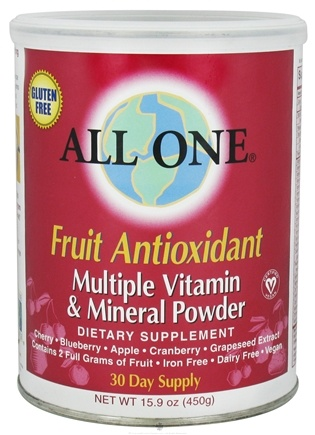 DROPPED: All One - Multiple Vitamin & Minerals Fruit Antioxidant - 450 Grams CLEARANCE PRICED