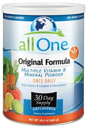 DROPPED: All One - Original Formula Multiple Vitamin Mineral Powder - 16.2 oz. CLEARANCE PRICED