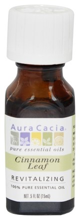 DROPPED: Aura Cacia - Essential Oil Revitalizing Cinnamon Leaf - 0.5 oz.
