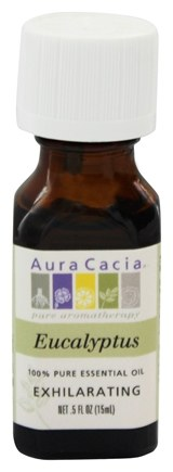 Aura Cacia - Essential Oil Exhilarating Eucalyptus - 0.5 oz.