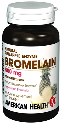DROPPED: American Health - Natural Pineapple Enzyme Bromelain - 60 Tablets
