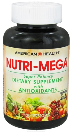 DROPPED: American Health - Nutri Mega Super Potency - 120 Softgels