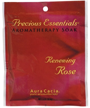 DROPPED: Aura Cacia - Precious Essentials Aromatherapy Soak Renewing Rose - 2.5 oz.
