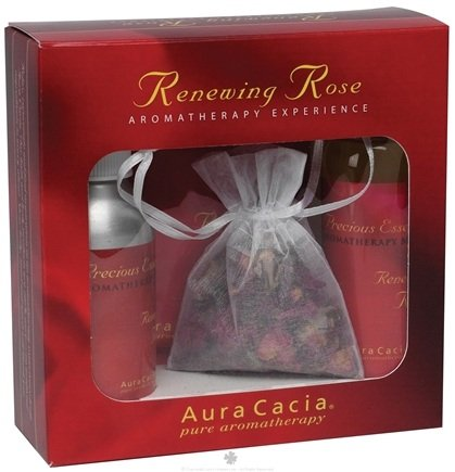 DROPPED: Aura Cacia - Renewing Rose Aromatherapy Experience Gift Set - 1 Gift Set