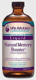DROPPED: Life Solutions - Liquid Natural Alert Memory Booster - 16 oz.