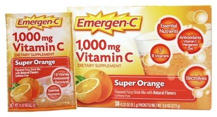 Alacer - Emergen-C Vitamin C Super Orange 1000 mg. - 30 Packet(s)