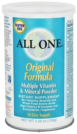 DROPPED: All One - Original Formula Multiple Vitamin Mineral Powder - 5.29 oz. CLEARANCE PRICED
