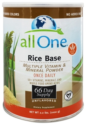 All One - Rice Base Multiple Vitamin & Mineral Powder - 2.2 lbs.