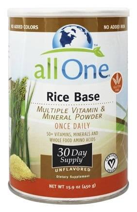 DROPPED: All One - Rice Base Multiple Vitamin and Mineral Powder - 15.9 oz.