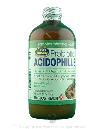 DROPPED: American Health - Probiotic Acidophilus Tropical Fruit - 16 oz.