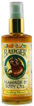 DROPPED: Badger - Massage & Body Oil Healing Blend - 4 oz. CLEARANCE PRICED