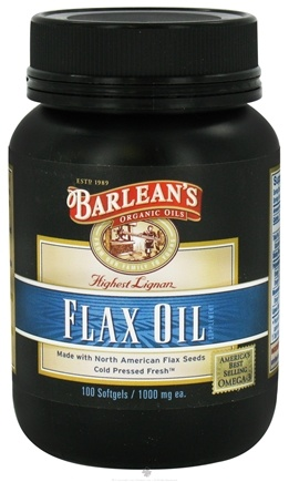 DROPPED: Barlean's - Highest Lignan Flax Oil 100% Organic 1000 mg. - 100 Capsules CLEARANCE PRICED