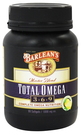 Barlean's - Total Omega 3-6-9 Master Blend Lemonade Flavor 1000 mg. - 90 Softgels