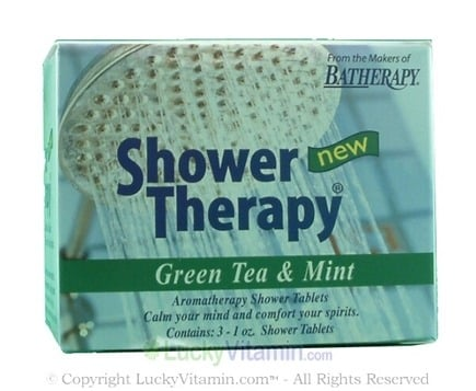 DROPPED: Queen Helene - Batherapy Shower Therapy Green Tea & Mint - 3 x 1 oz Tablets