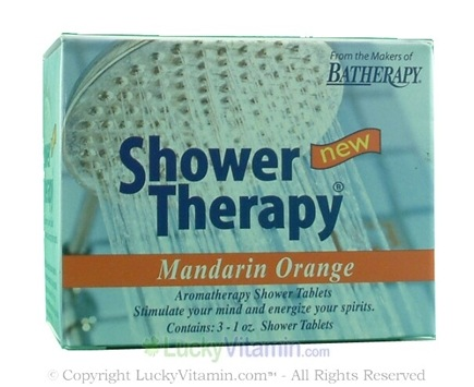 DROPPED: Queen Helene - Aromatherapy Shower Tablets Mandarin Orange - 3 Tablets