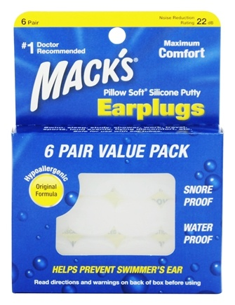 Mack's - Pillow Soft Silicone Ear Plugs - 6 Pair