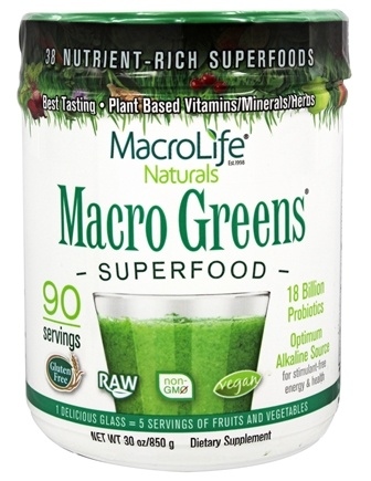 Zoom View - Macro Greens Nutrient Rich Super Food Supplement