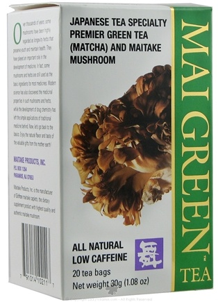 DROPPED: Mushroom Wisdom - Mai Green Tea - 20 Tea Bags Formerly Maitake Products