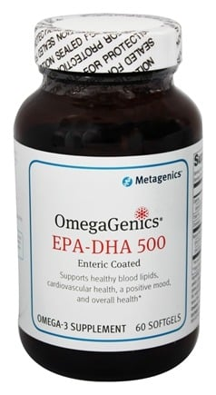 Metagenics - OmegaGenics EPA-DHA 500 - 60 Enteric Coated Softgels (formerly EPA-DHA Extra Strength)