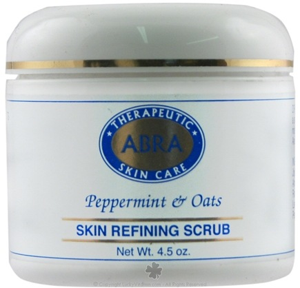 DROPPED: Abra Therapeutics - Therapeutic Skin Care Skin Refining Scrub Peppermint & Oats - 4 oz. CLEARANCE PRICE