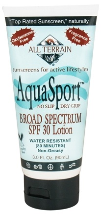 DROPPED: All Terrain - AquaSport Sunscreen Lotion 30 SPF - 3 oz. CLEARANCED PRICED