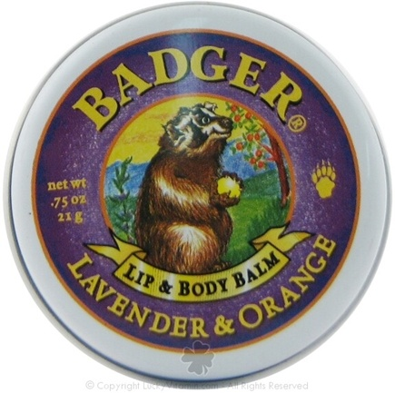 DROPPED: Badger - Lip & Body Balm Lavender & Orange - 0.75 Oz.