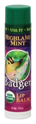 Badger - Lip Balm Stick Highland Mint - 0.15 oz.