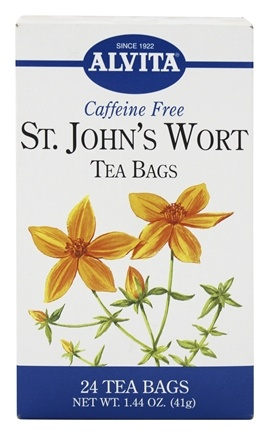 DROPPED: Alvita - Saint John's Wort Caffeine Free - 24 Tea Bags CLEARANCE PRICED